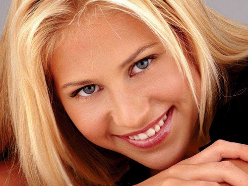 Russian tennis player Anna Kournikova