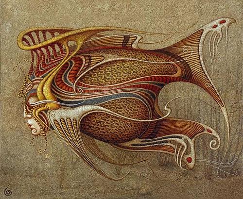 Fantastic realism in paintings by Boris Indrikov