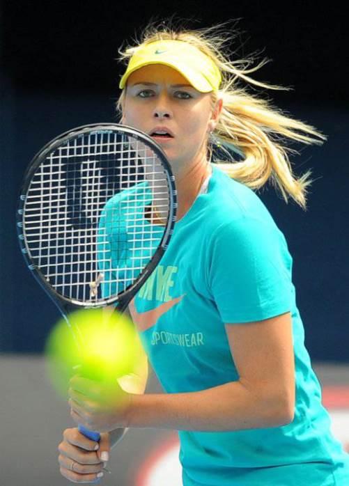 Beautiful Russian tennis player Sharapova