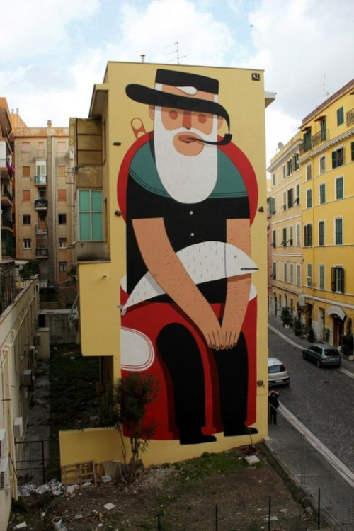 Beautiful and Colorful street art by Agostino Lacurci