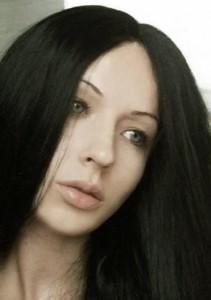 Brunette girl Valeria Lukyanova in 2005