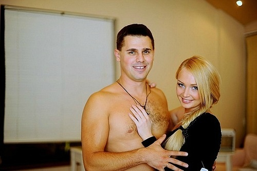 Dasha Pynzar (Chernykh) and her husband Sergei Pynzar