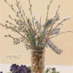 """1923 painting """"Pussy – willow Sunday"""""""