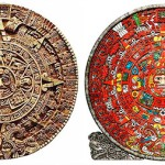 the Aztec Calendar, on display at the Museo Nacional de Antropologia in Mexico City, Mexico
