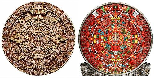 the Aztec Calendar, on display at the Museo Nacional de Antropologia in Mexico City, Mexico