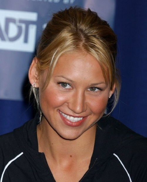 Beautiful tennis player Anna Kournikova