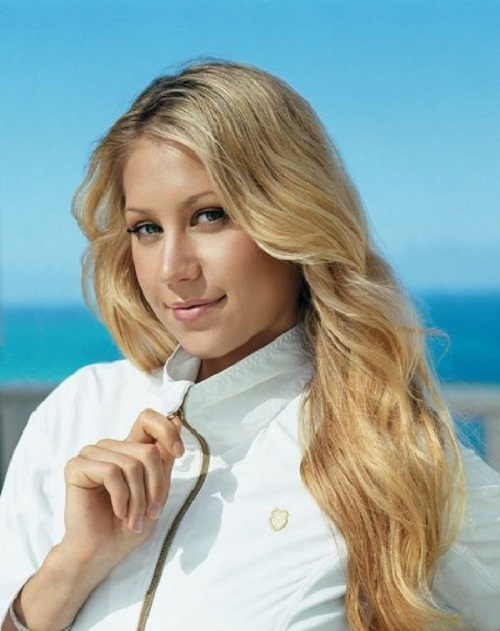 Russian tennis player Anna Kournikova