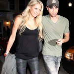 Anna Kournikova and Enrique Iglesias. The couple is seen leaving Italian eatery Prime one twelve in South Beach Florida. Saturday November 13, 2010