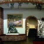 Blurring the lines. A mural entitled Art Imitating Life, Cafe Trompe L'oeil, San Jose, California