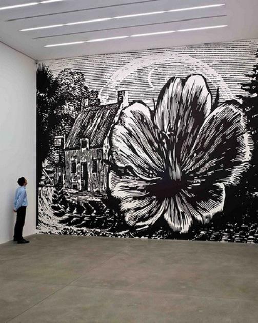 Large scale Botanical landscapes by English painter Paul Morrison