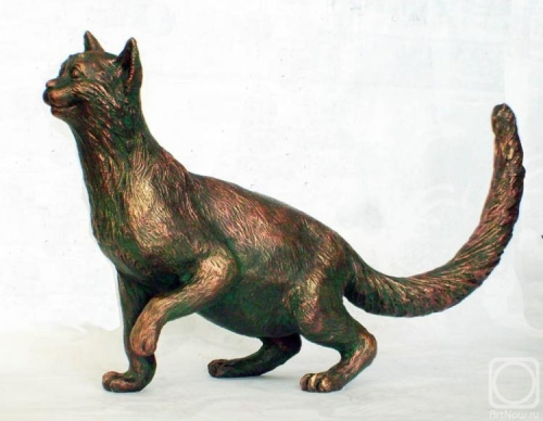 Beautiful Bronze sculpture of a cat