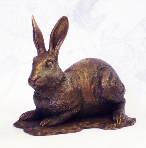 Bronze sculpture of a hare
