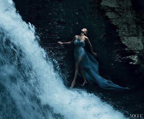 Charlize Theron as Aphrodite for the VOGUE