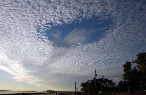 Stunning colors and shapes of clouds