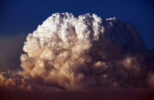 A pyrocumulus cloud or fire cloud