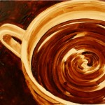 Painting with coffee by American coffee artists Angel Sarkela Saur and Andrew Saur