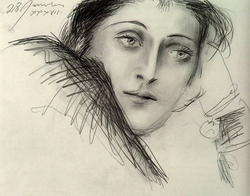 Drawing by Pablo Picasso - Dora Maar. 1936