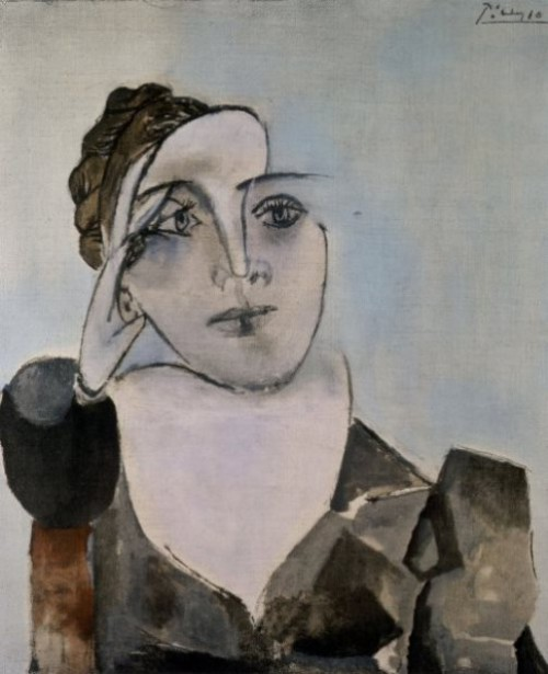 A cubist portrait of Dora Maar. Painting by Pablo Picasso