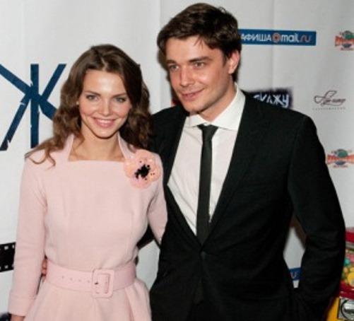 Elizaveta Boyarskaya and her husband Maxim Matveyev in 2010