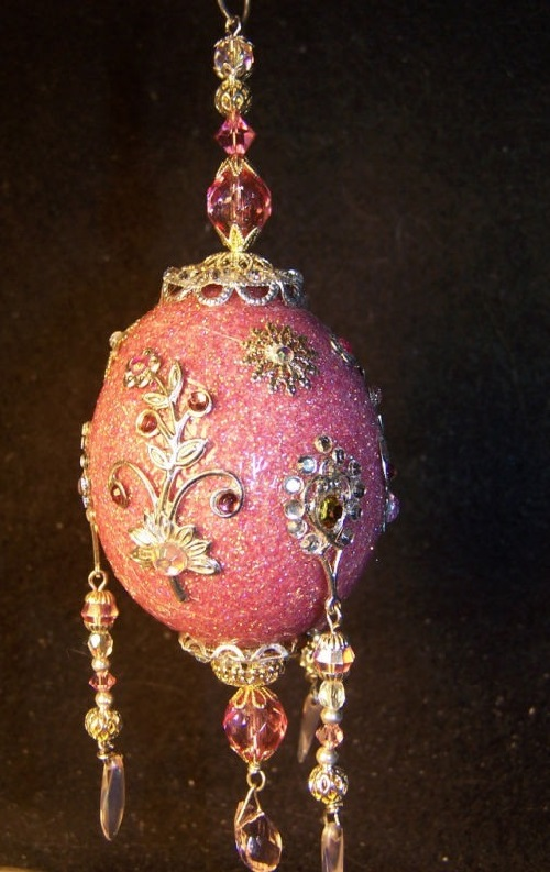 Light pink Faberge style Egg