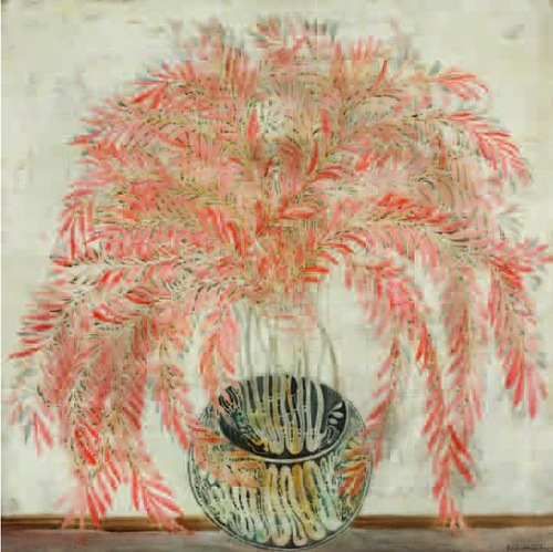 Flower. Painting by Georgian artist Merab Abramishvili