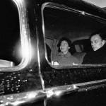In a car. Frank Sinatra and Ava Gardner