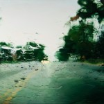 Suburban road. Hyperrealistic painting by American artist Gregory Thielker