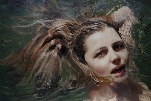 Hyperrealistic painting by American artist Alyssa Monks