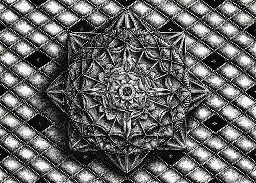 Patterns. Ink drawings by Russian artist Alex Konahin