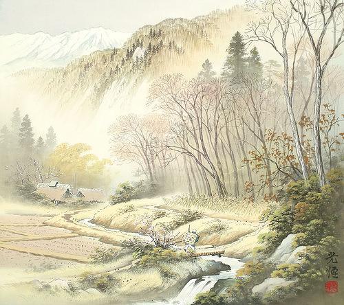 Nature painting by Japanese artist Koukei Kojima