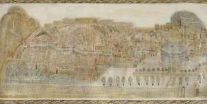 Jerusalem. Painting by Georgian artist Merab Abramishvili