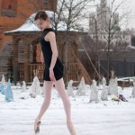 Russian winter and American ballerina Joy Womack