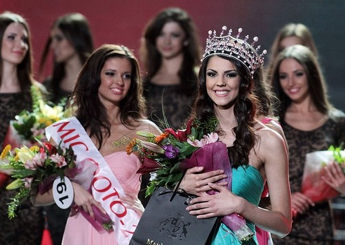 Miss Ukraine 2012, beauty pageant winner Karina Zhironkina