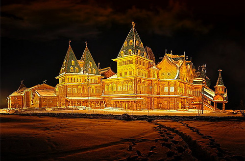 Russian Wooden Palace built without a nail. Kolomenskoye