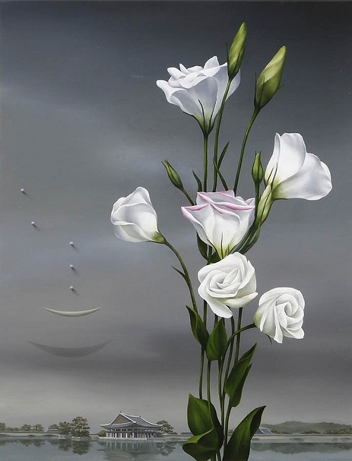 painting by contemporary Korean artist Hwang Seong Je
