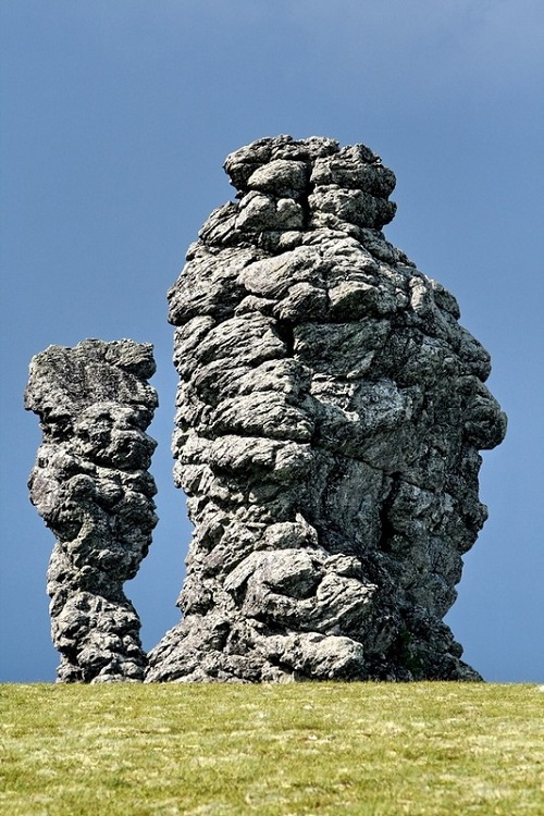 Poles of the Komi Republic. Manpupuner rock formations in Pechora-Ilych Nature Reserve, Komi Republic, Russia