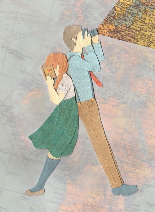 A boy and a girl. 3D illustrations by Japanese artist Miki Sato, Ontario, Canada