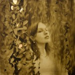 Genuine gold silver leaf and oil painting by Brad Kunkle