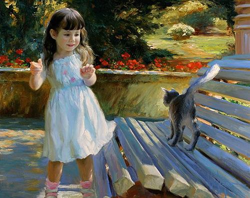 Painting by Russian artist Vladimir Volegov