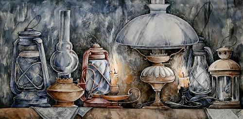 Painting on silk by Maria Kaminskaya