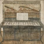 Piano. Painting by Georgian artist Merab Abramishvili 8