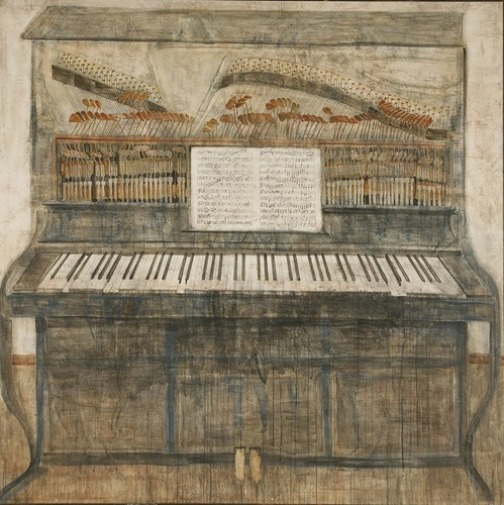 Piano. Painting by Georgian artist Merab Abramishvili 8