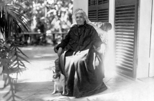 Retired Liliuokalani. Pictured here in 1917, after her reign ended, Liliuokalani withdrew from public life, enjoying a government pension, but was still well respected amongst the islanders