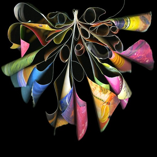 Sculptures from Houston Yellow Pages by American artist and fine art photographer Cara Barer