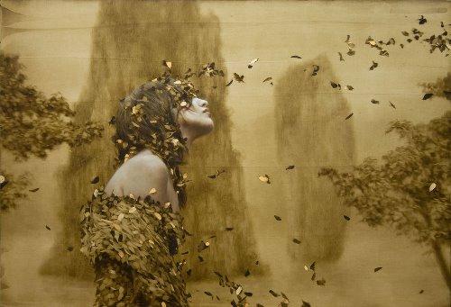 Painting by American artist Brad Kunkle