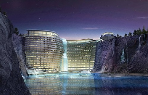 5 star hotel with underwater level