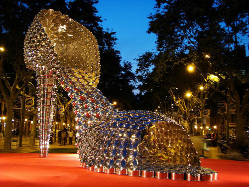 A giant art installation Shoe