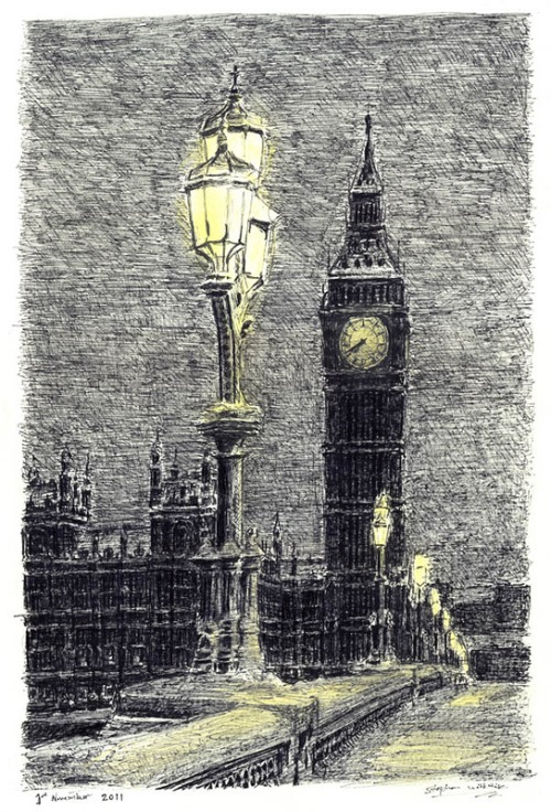 Drawing by British autistic artist Stephen Wiltshire