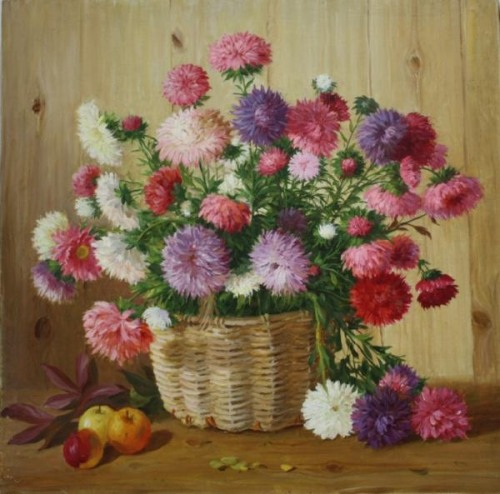 Still life painting by Sergey Neustroev (1927 - 2011)