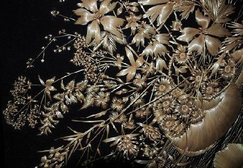 Straw Embroidery by Natalia Lashko